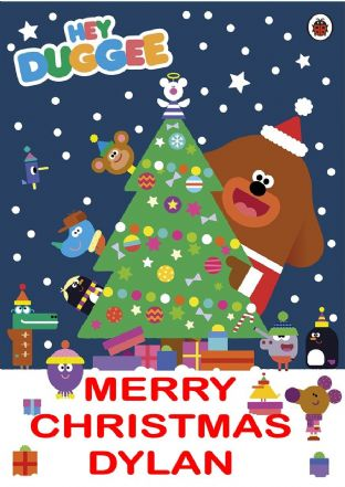 Personalised Hey Duggee Christmas Card
